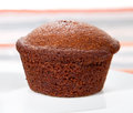 Freshly baked chocolate muffins serve on plate Stock Photos