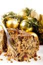 Freshly baked Christmas fruit cake Royalty Free Stock Photo
