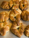 Freshly baked croissants Royalty Free Stock Photo