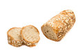 Freshly baked cut bread roll Royalty Free Stock Photo