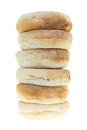 Freshly baked English muffins stack Royalty Free Stock Photo