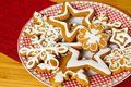 Homemade Christmas gingerbread.