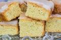 Freshly baked lemon cake Royalty Free Stock Photo