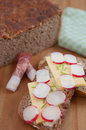 Freshly baked rye bread Stock Images