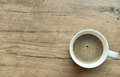 Freshly brewed coffee cup space for your text Royalty Free Stock Photos