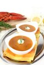 Freshly cooked lobster bisque Royalty Free Stock Image