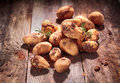 Freshly harvested farm potatoes Royalty Free Stock Photography