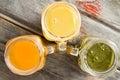 Freshly liquidised tropical fruit juice Royalty Free Stock Photo
