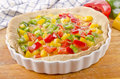 Freshly made bell pepper quiche Royalty Free Stock Image