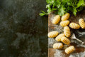 Freshly made gnocchi dumplings with parsley Royalty Free Stock Photo