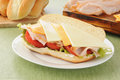 Freshly made hogie sandwich Royalty Free Stock Images