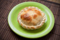 Freshly made tuna pie baked on dish Royalty Free Stock Photos