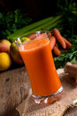 Freshly squeezed carrot juice a tasty Royalty Free Stock Photo