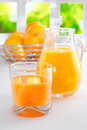Freshly squeezed orange juice for breakfast Royalty Free Stock Photography