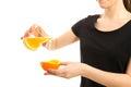 Freshly squeezed orange juice isolated Stock Image