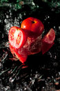 Freshly tomatoes splash Royalty Free Stock Images