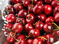 Freshly washed cherries Royalty Free Stock Photos