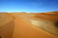 Freshly wind swept dune at sossusvlei namibia Royalty Free Stock Image