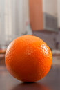 Freshness fresh orange on the kitchen table Royalty Free Stock Photography