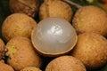 Freshness longans thai fruit background Royalty Free Stock Photo