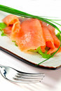 Freshness salmon salad Stock Image