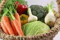 Freshness vegetables in a basket