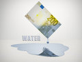 Freshwater euro bill drips Royalty Free Stock Image