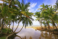 Freshwater river at las terrenas beach samana peninsula dominican republic Stock Photo