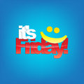 Friday background it s yellow smiley face typography Royalty Free Stock Photo