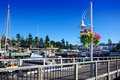 Friday Harbor ferry dock Stock Image