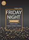 Friday night party.Poster template.Vector illustration