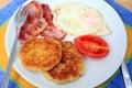 Fried breakfast horizontal Royalty Free Stock Photo