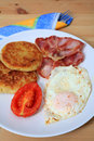 Fried breakfast vertical Royalty Free Stock Photo
