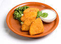 Fried cheese appetizer Royalty Free Stock Image