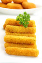 Fried cheese sticks Stock Photos