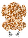 Fried Chicken Mosaic of Triangles