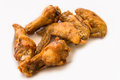 Fried chicken isolate white background Royalty Free Stock Photography