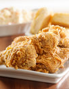 Fried chicken meal closeup Stock Photos