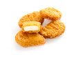 Fried chicken nuggets Stock Images