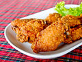 Fried chicken's wings Stock Photo