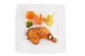 Fried chicken steak isolated on white Stock Photo