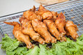 Fried chicken wing Royalty Free Stock Photo