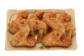 Fried chicken wings Imagens de Stock Royalty Free