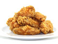 Fried chicken wings. Royalty Free Stock Photo
