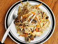 Fried Chinese Noodles Royalty Free Stock Photo