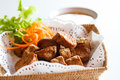 Fried crab roll asian made ​​of meat then deep Stock Photography