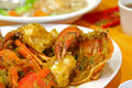 Fried crabs Royalty Free Stock Photos