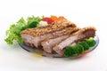 Fried crispy pork Stock Photo