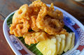 Fried Crispy Squid Stock Photo