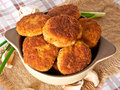 Fried cutlets Royalty Free Stock Photos